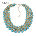 Kinel 2016 Gold Fashion Jewelry Luxury Handmade Turquoise Necklaces For Women Bohemia Jewelry 3 Colors Choose