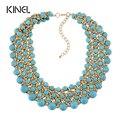 Kinel 2016 joyería de moda de oro de lujo hecho a mano de la turquesa collares para las mujeres de bohemia de la joyería 3 colores eligen