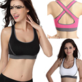 Sexy Woman Crop Top Women Fitness Tops Racerback Bra Tank Padded Underwear Vest Crop Top