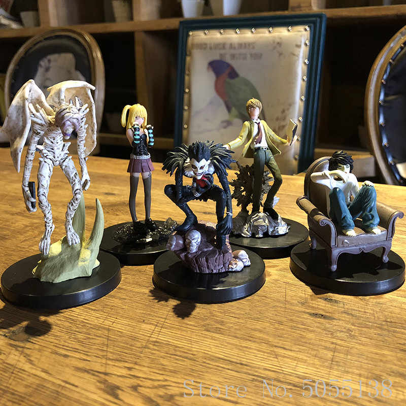 10-29cm 6pcs/lot Anime Cartoon Death Note L Killer Ryuuku Rem Misa Amane PVC Action Figure Model Toys Doll Free Shipping