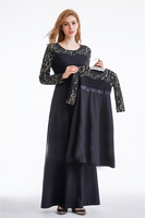 new mummy and girl muslim robes children lace dress