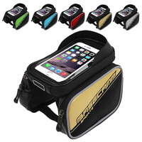 Bicycle Frame Front Top Tube Bag Waterproof Double Pouch Case For 5 8 Inch Cell Phone