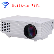 Best Built-in WiFi 3D Home Theater Projector Mini Portable Support HD 1080P HDMI USB Video LCD 800*480  Beamer Projetor
