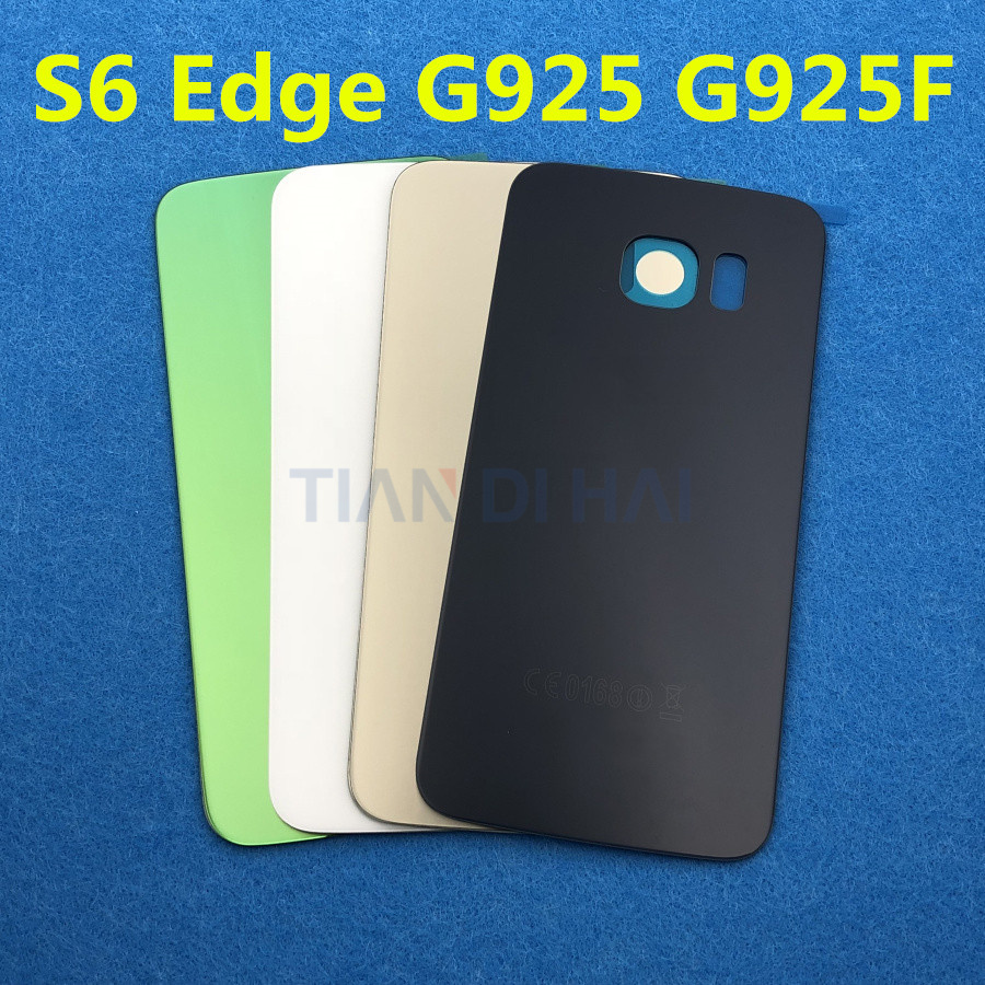10pcs/lot S6edge Back Battery Cover Glass Door For Samsung Galaxy S6 Edge G925 G925f Sm-g925f G925fd Rear Housing Case Aaa+ Great Varieties