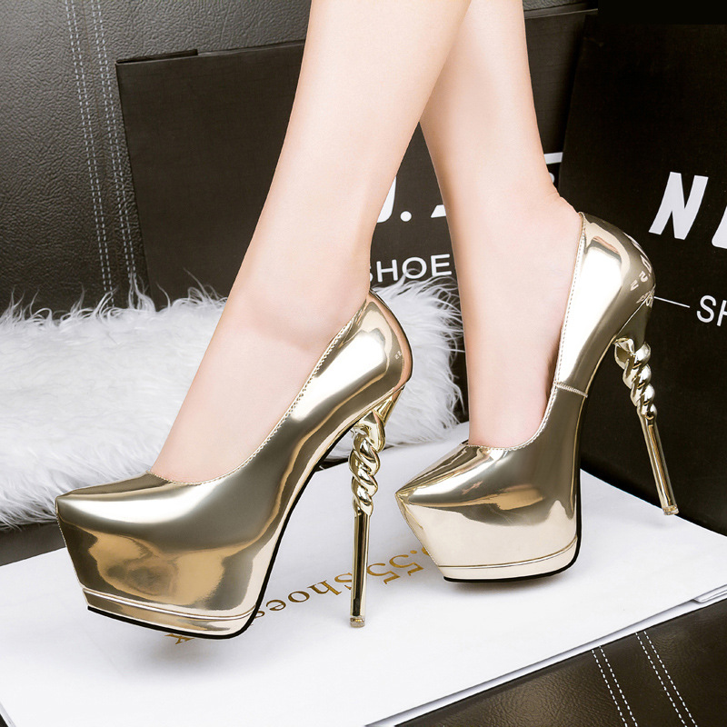 party shoes gold pumps wedding shoes women pump extreme high heels black  platform shoes silver heels women shoes heels X321-in Women s Pumps from  Shoes on ... 0dec70d18e18