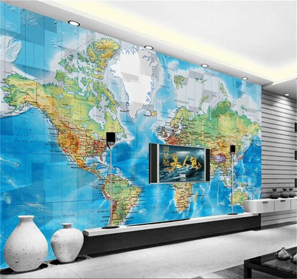 3d wallpaper custom photo wallpaper mural living room mural map of the world 3d color painting sofa TV background wall sticker custom photo wallpaper large living room sofa bedroom tv setting wall of modern art wall paper color grid mural wall painting