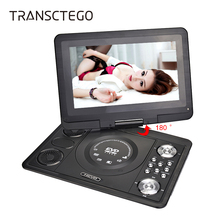 TRANSCTEGO DVD Player Portable TV 13.9 Inch With Digital TV Home LCD Screen For Cars Usb Game FM DVD VCD CD MP3 DVB-T Television