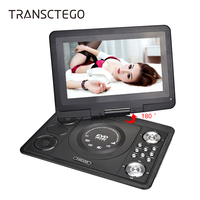 TRANSCTEGO Dvd Player 13 9 Inch LCD Screen Portable Tv Support TV Game Portatil Digital For