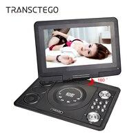 TRANSCTEGO Dvd Player 13 9 Inch LCD Screen Portable Tv Support TV Game Portatil Digital For