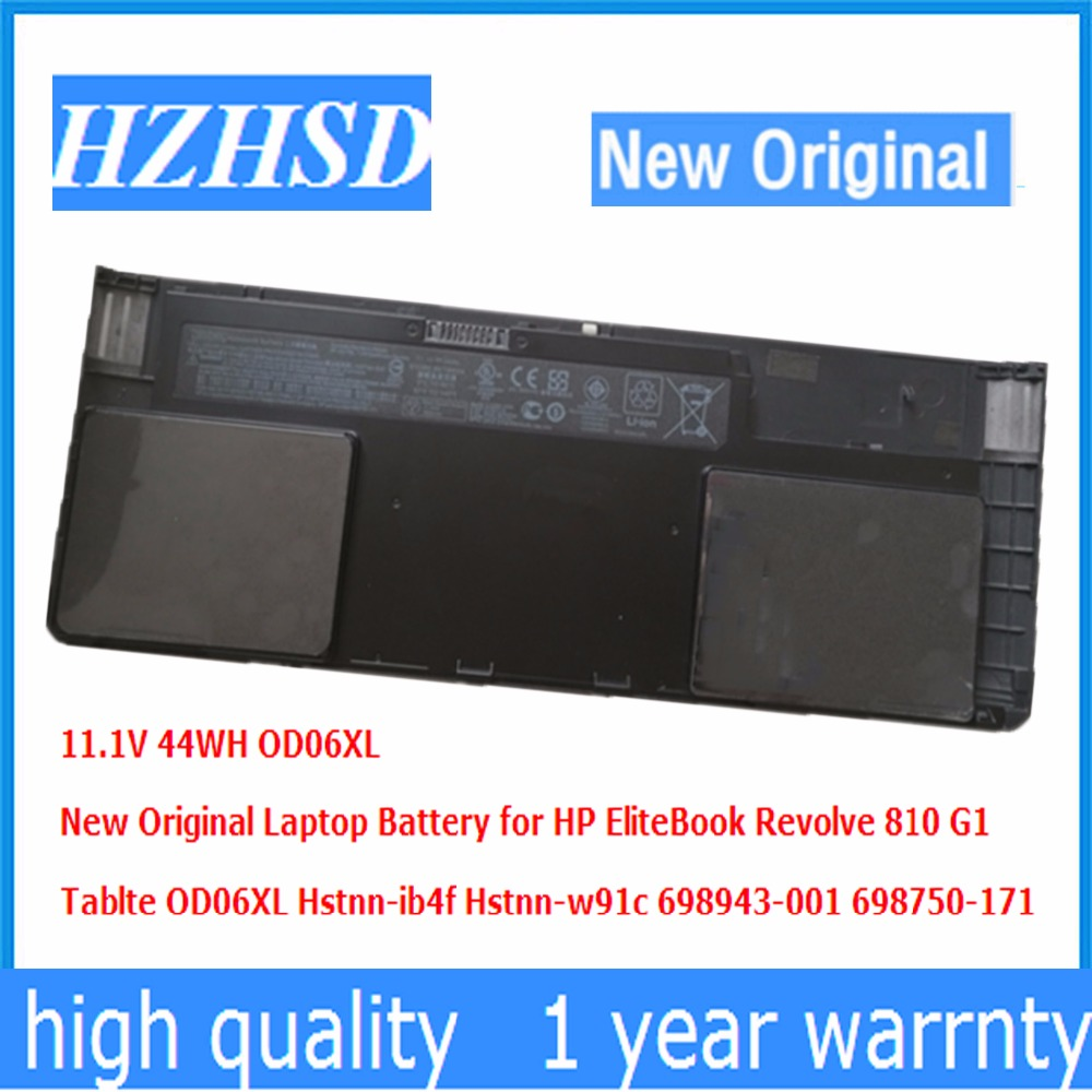 11.1V 44WH New Original OD06XL Laptop Battery for HP EliteBook Revolve 810 G1 Tablte Hstnn-ib4f Hstnn-w91c 698943-001 698750-171 laser anti collision security system defense system fog light warning light for car motor truck tractor in rain fog and haze