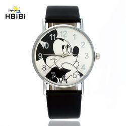 Хорошее качество дети часы «Микки» модный ремень Детские кварцевые наручные часы Мода Детские часы для мальчиков и девочек точное время