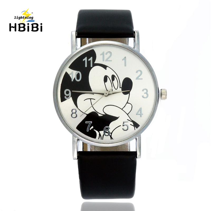 Good Quality Children Mickey Watch Fashion Belt Children's Quartz Wristwatch Fashion Kid Watches Boy Girl Clock Accurate Time