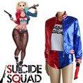 Nuevo Comando Suicida Batman Harley Quinn Cosplay Disfraces Impresión Coat + Shirt + Shorts + Guantes