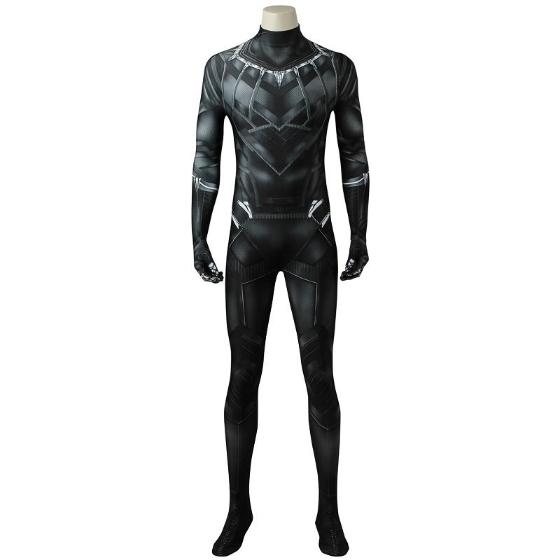 Captain America Black Panther Costume Cosplay The Avengers Infinity War T'Challa Bodysuit 3D Printed Hallowen Adult Men