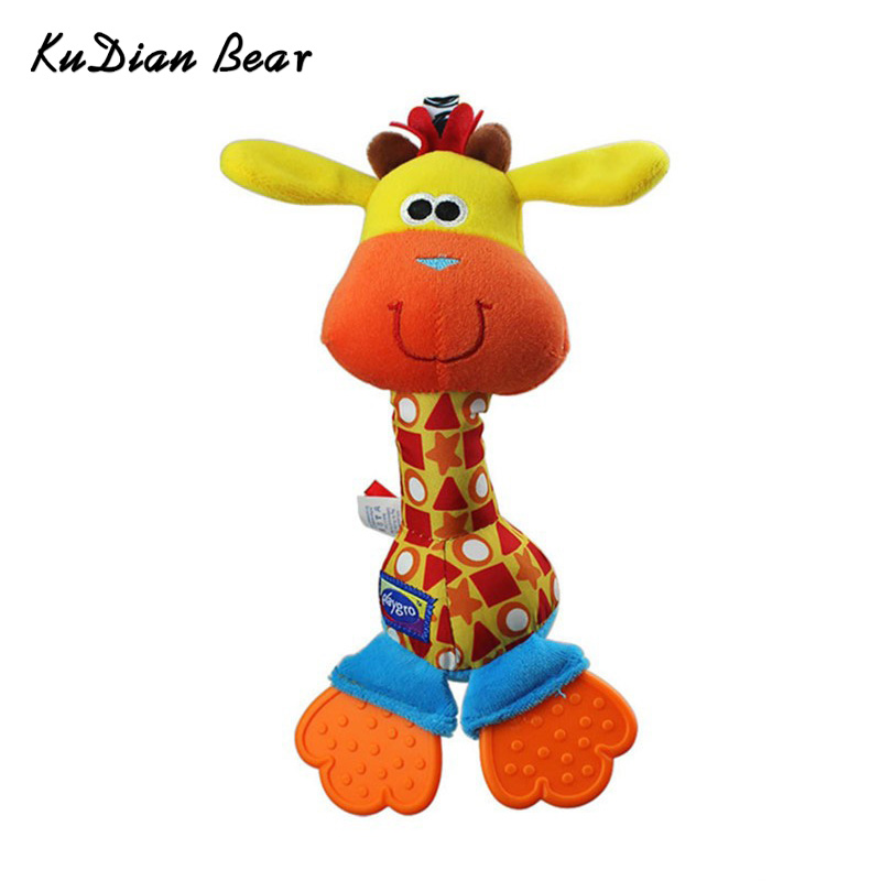 Animal Rattles Baby Plush Hand Bell With Teether Newborn Practice For Infant Kids Toy 0-12 Months -- BYC043 PT49 ...