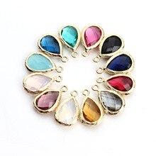 5 PCS/ Lot new pendant water drop shape crystal alloy Pendant for making Bracelet jewelry