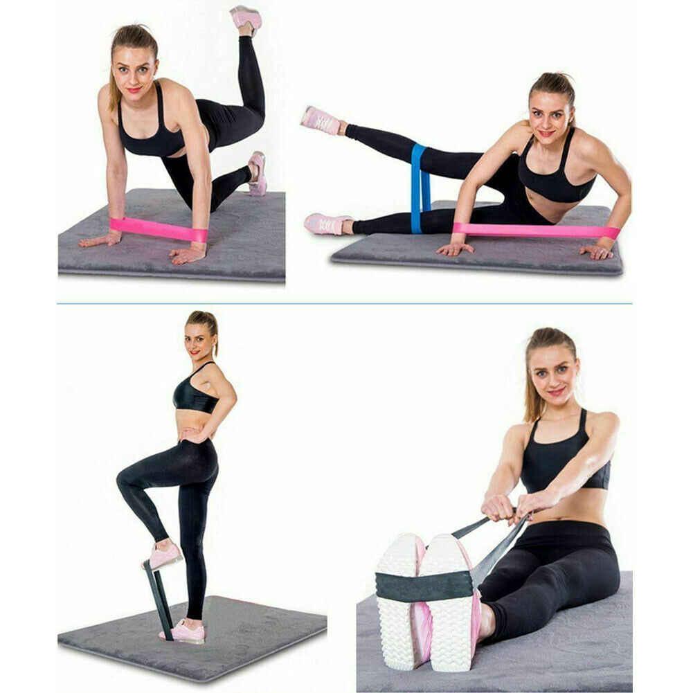 Elastici a resistenza Loop Set di 5 Esercizio di Allenamento CrossFit Fitness Yoga Booty Fascia