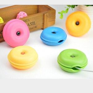 Image 1 - 6 צבעים כבל כבל ארגונית חכם צב בצורת לעטוף חוט המותח אוזניות אוזניות מחזיק מקרה TPR משלוח חינם