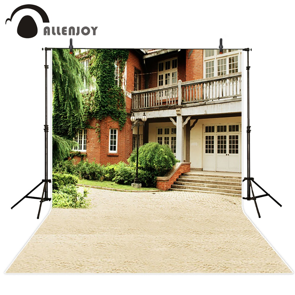 Allenjoy photo background Photography city street outdoor house trees photography backgrounds for photo studio backdrop city street 8 x12 cp computer painted scenic photography background photo studio backdrop dt lp 0183