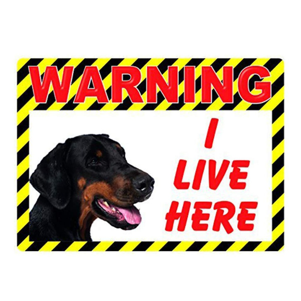 Plaques & Signs Home Decor Loyal Warning Dog Live Here Metal Tin Sign For Yard Home A Plastic Case Is Compartmentalized For Safe Storage