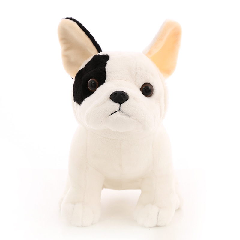 2018 New Arrival Bulldog Soft Plush Toy Not Deformed Black Spotted Dog Stuffed Doll PP Cotton Animal Toys Kids Birthday Gift 80cm large super cute plush toy dog bulldog husky shiba pug pillow down cotton filling as a gift to the children and friends