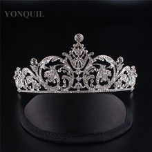 Free Shipping Crystal Crown Bridal Hair Accessory Wedding Rhinestone Tiara Crown Frontlet Bridesmaid Jewelry 3pcs lot