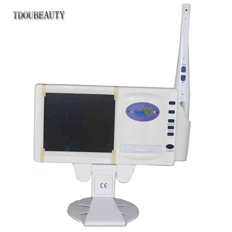 TDOUBEAUTY Dentist Multi-functional Dental Intra Oral Camera With X-ray Film Reader And 5 Inch LCD And SD Card  Free Shipping tdoubeauty oral camera 6 led light video