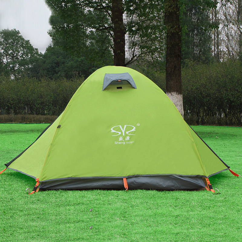 210*135*110 CM 2 Person Camping Tents Waterproof Double Layer Hiking Fishing Tents Windproof Beach Tents Outdoor Tents high quality outdoor 2 person camping tent double layer aluminum rod ultralight tent with snow skirt oneroad windsnow 2 plus