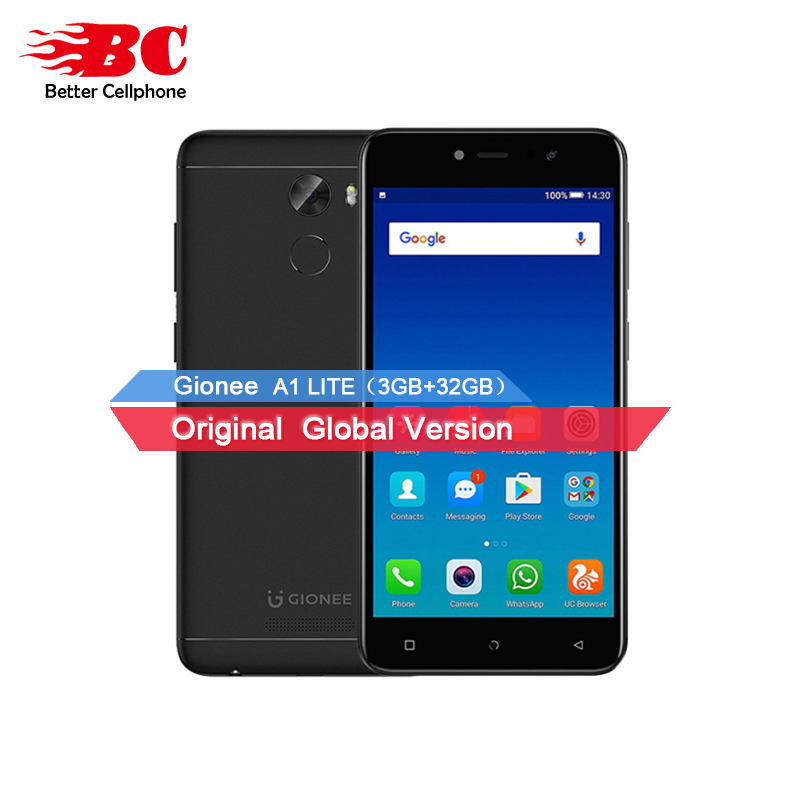 2018 GIONEE A1 LITE Fingerprint MT6753 Octa core 1.3GHz Android7.0 5.3inch HD Front 20MP 4000mAh 3GB ROM 32GB ROM Mobile Phone