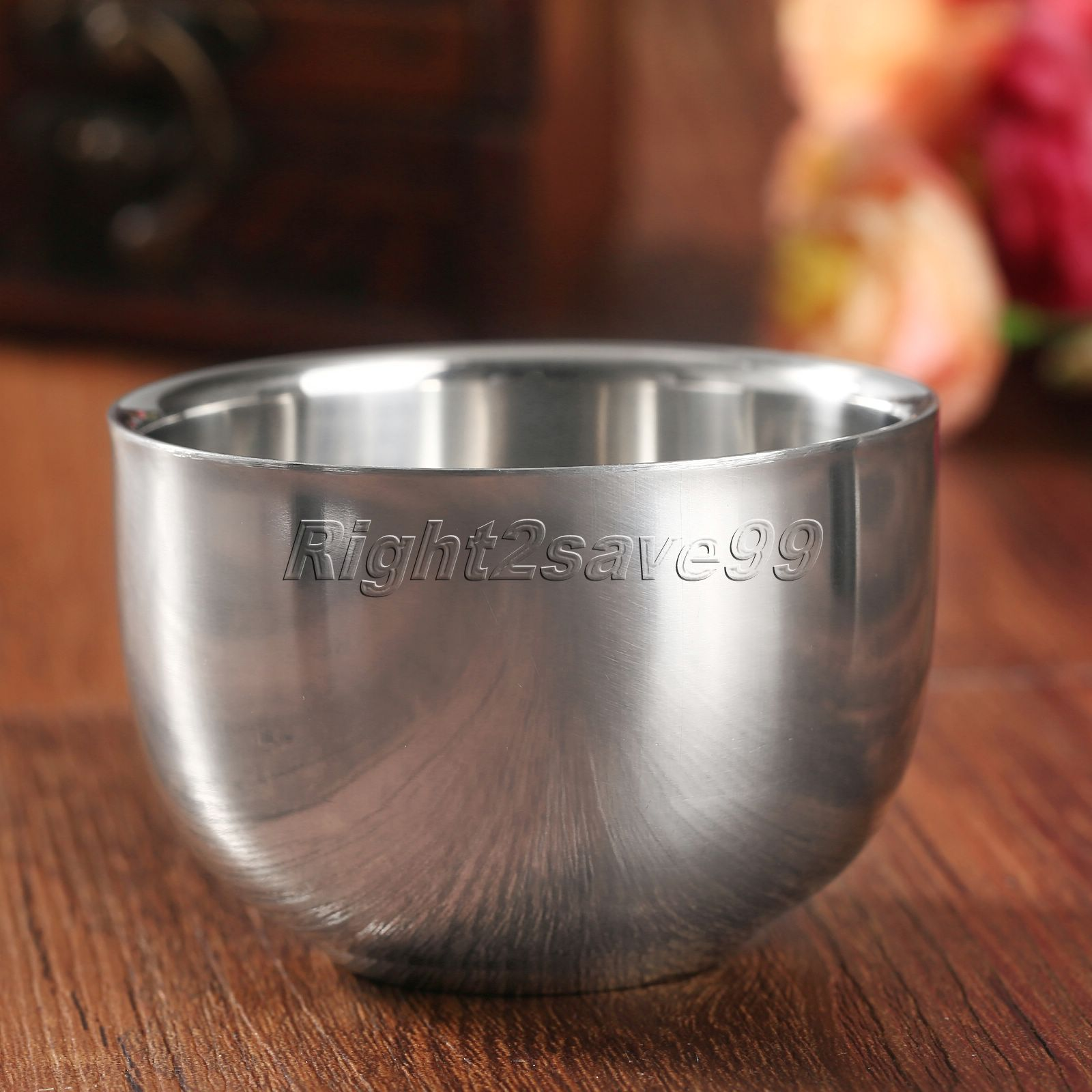 High Quality 7.2cm Fashion Stainless Steel Metal Men Shaving Mug Bowl Cup Shaving Mug Shaving Men's Mug Bowl Cup For Shave Brush
