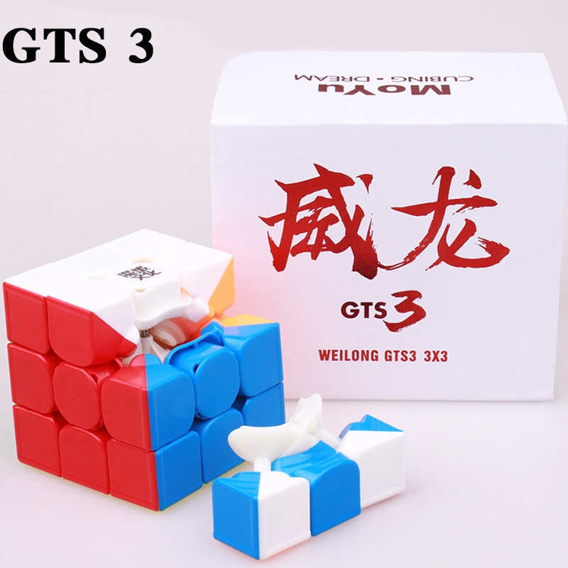 Купить с кэшбэком MOYU Weilong GTS 3M 3X3x3 Magnetic Cube GTS3 Speed Cube Profissional Puzzle Magnet Magic Cubes Toys For Children Moyu Neo Cube