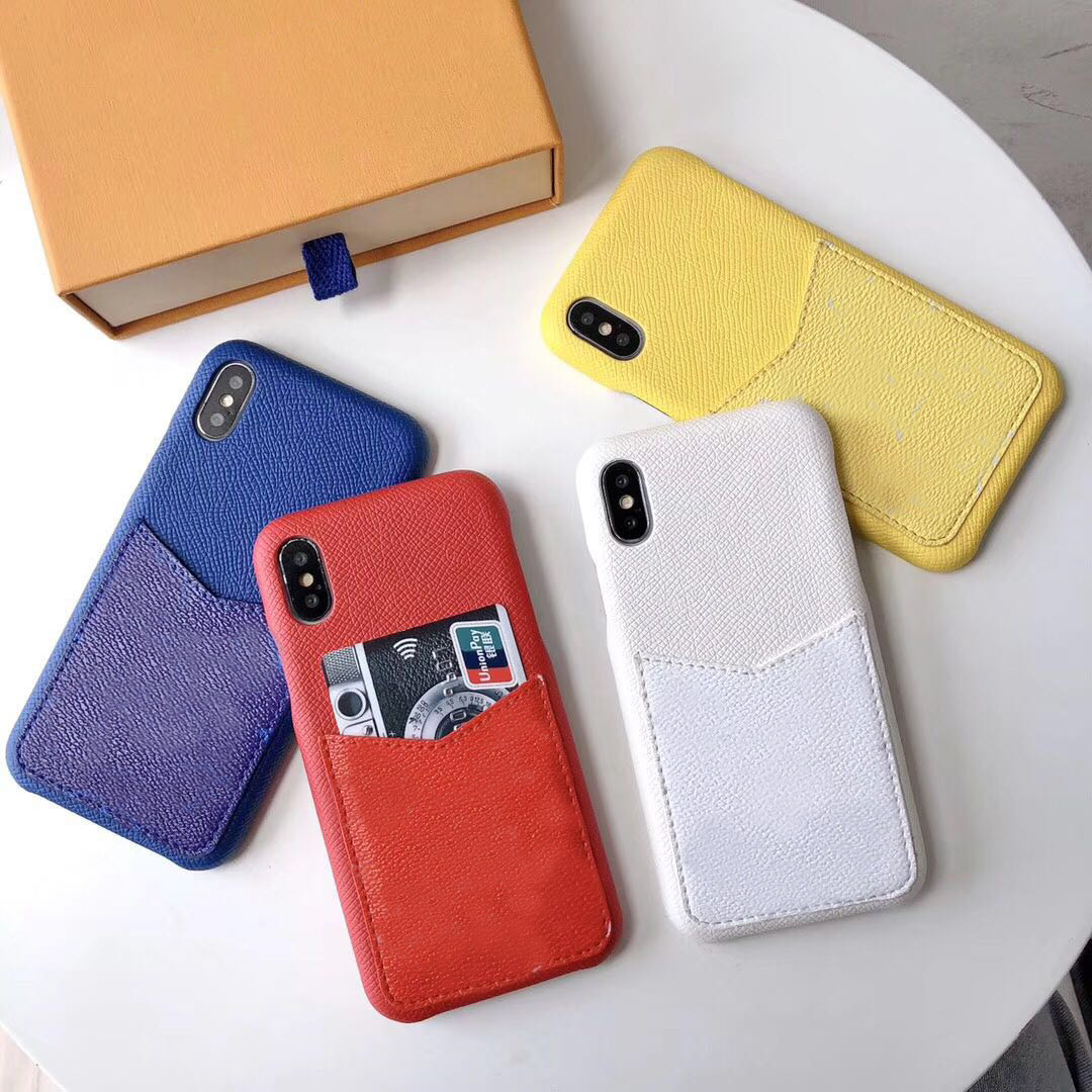 Monograma cartão de negócio bolso com LOGOTIPO caso tampa do telefone para o iphone 6 7 8 Plus 6 sPlus coque Para apple iPhone XS XR XSMAX fundas