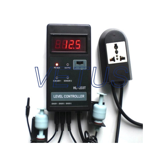HL-233T Water LEVEL CONTROLLER meter tester (with temperature display) Free shipping free shipping electronic water level controller atc60a03 gprs rtu controller