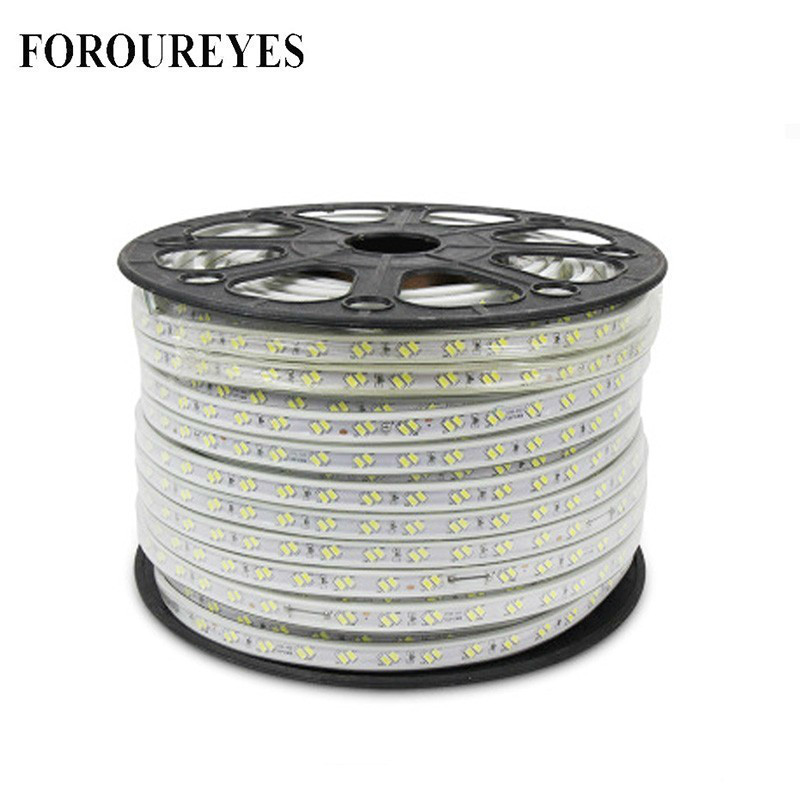 Flexible <font><b>LED</b></font> Streifen Licht AC220V SMD5730 120 <font><b>leds</b></font>/m Wasserdicht IP67 <font><b>Led</b></font> Band <font><b>LED</b></font> Licht Mit EU Power Plug 1 M/2 M/3 M/8 M/10 M/12 M/20 M image