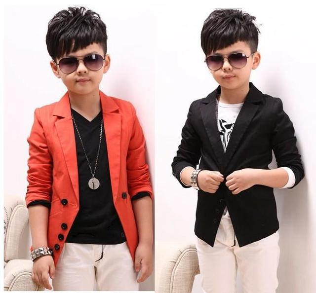 35b2f782f101 2013 Autumn Boys Casual Blazer Children's Clothing Cotton Suit Fashion Long  Sleeve Design jacket Black Orange
