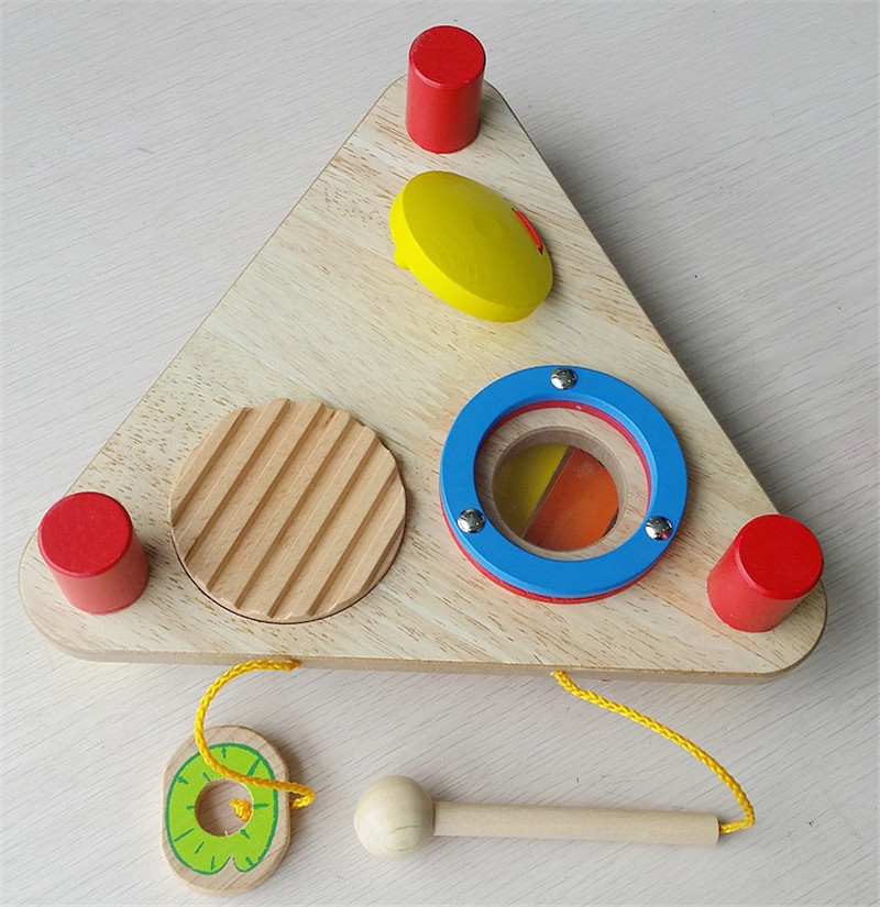 New Wooden Baby Toys Multifunctional Triangular Music Table Baby Educational Music Toys Baby Gifts