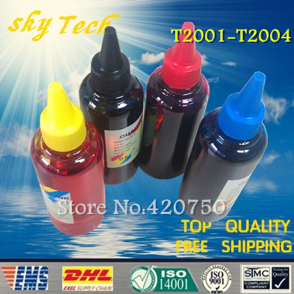 Dye refill ink Suit for Epson T2001-T2004 Cartridges ,suit for Epson XP-200 XP-100 XP-300 XP-400 WF-2520 WF-2530  WF-2540 dye refill ink suit for epson t5846 cartridges suit for epson pm280 pm200 pm240 pm290 pm225 specialized ink