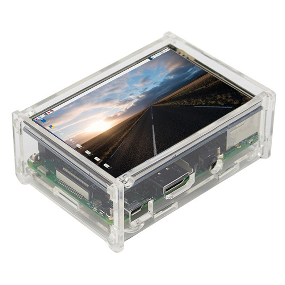 Acrylic Protective Case For Raspberry Pi 3 Model B, Pi 2 Model B & Pi Model B Transparent