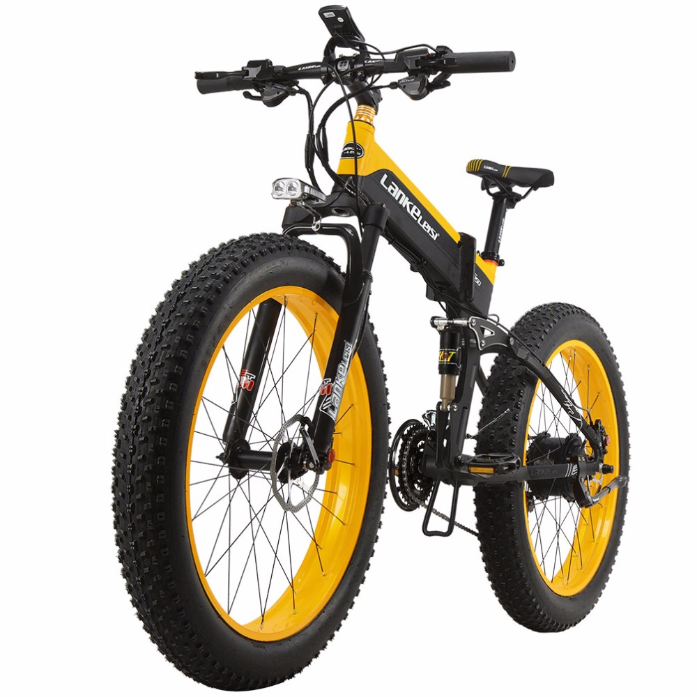 Lankeleisi New All Terrain Powerful Electric Bike 26 4 Fat 500w