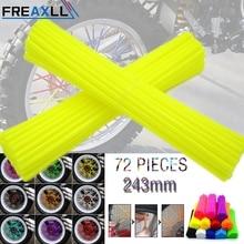 72Pcs/Pack Off-road Bike Wheel spoke skin Colorful Motocross Rims Skins Covers For HONDA CR YZ RM KX CRF YZF RMZ KXF WR X