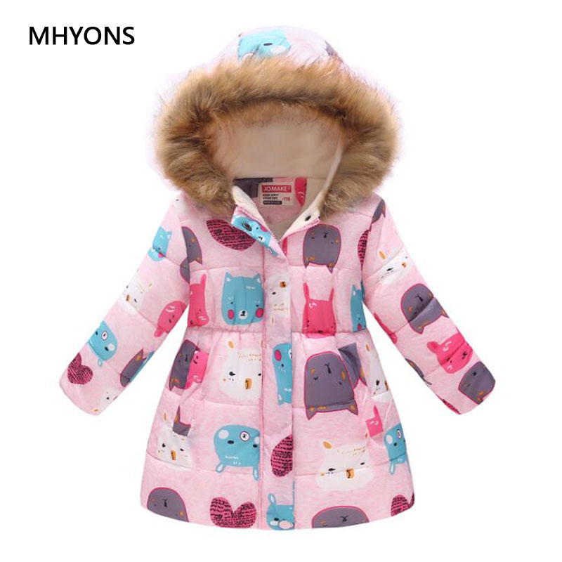 2018 New Boys Winter Jacket Fashion Girls Cartoon Coat Kids Winter Thick Warm Casual Floral Printed Outerwear Children Jackets2018 New Boys Winter Jacket Fashion Girls Cartoon Coat Kids Winter Thick Warm Casual Floral Printed Outerwear Children Jackets