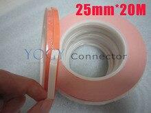 25 мм х 20 М Double Face Клей Теплопроводящий Лента для Chip, мягкие PCB, LED, тепловые Колодки Клей