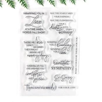 Palabras en inglés amor transparente claro sello de silicona para DIY álbum de fotos decorativo tarjeta hacer sentido sello