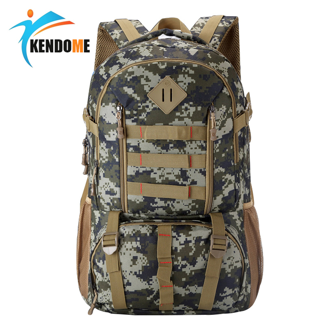 8f1a7dfb7589 Hot 50L Molle Camo Tactical Backpack Military Army Mochila Waterproof Hiking  Hunting Backpack Tourist Rucksack Outdoor Sport Bag