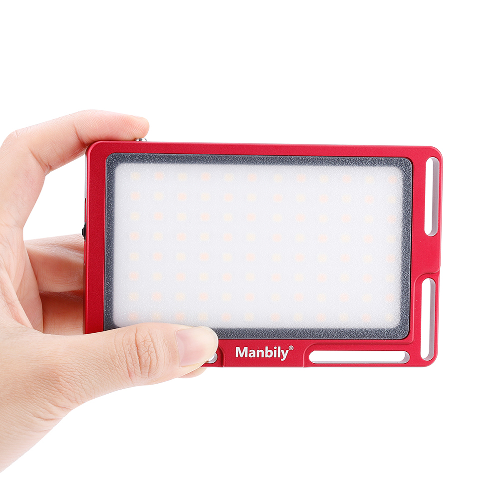Manbily MFL-06/MFL-03 Luz de vídeo LED Vlog 180 LED foto estudio LED llenar iluminación 3500 K-5700 K para Canon Nikon Sony DSLR cámaras - 5