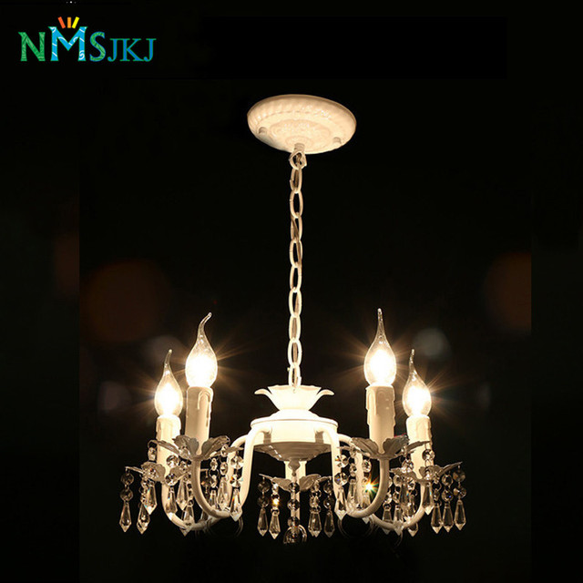 Schon Weiß Eisen Kristall Kronleuchter Moderne Leuchte Für Mädchen Zimmer  Schlafzimmer Esszimmer Zimmer Küche Insel Foyer