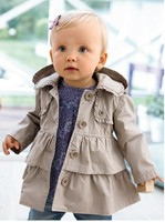 SY011 Free Shipping 2014 New Girl Coat Girl S Fashion Outwear Kids Trench Hoodies Jacket Top