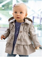 SY011 Free shipping 2017 new girl coat girl s fashion outwear kids trench hoodies jacket top