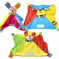 Colorful Baby Comforter Toy Cute Cartoon Animal Soft Plush with Rattle Saliva Towel Baby Care