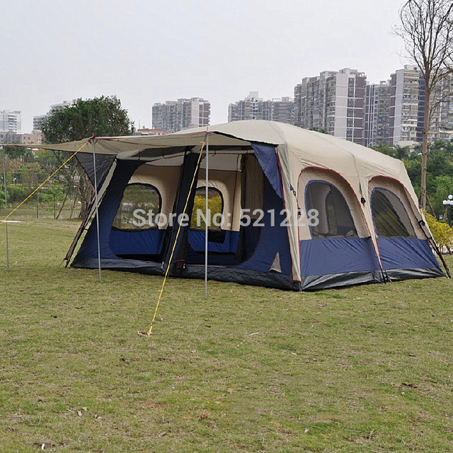 OZtrail Super Large Anti Storm 6 12 Persons Outdoor Camping Family Cabin  Waterproof Fishing Beach